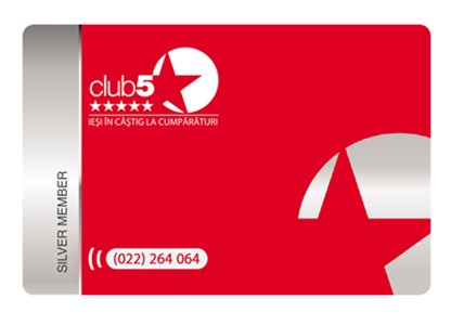 Card Club5* Silver - Card de fidelitate Club5* Silver
