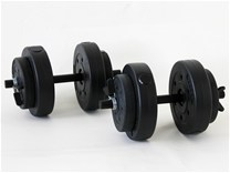 LiveActive Heavy Weight Set uteži Dumbbells 18KG